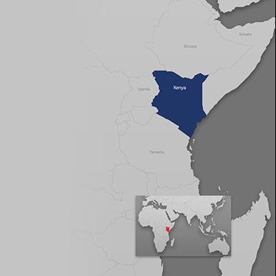 Kenya on world map