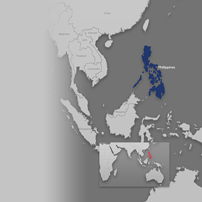 Philippines on world map