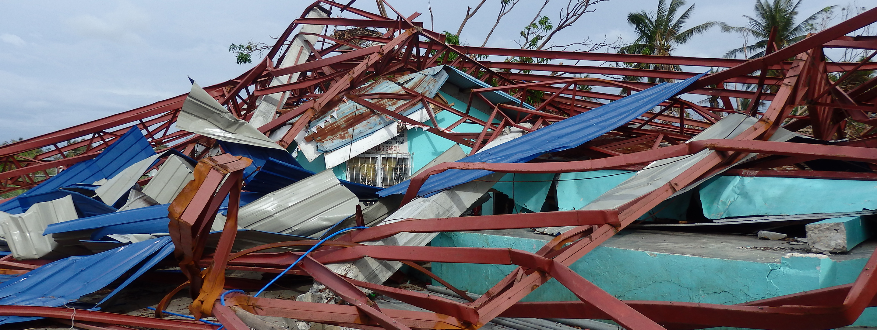 destruction at don pedro barangay health station and day care center