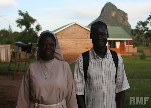 charles and sister claire in uganda