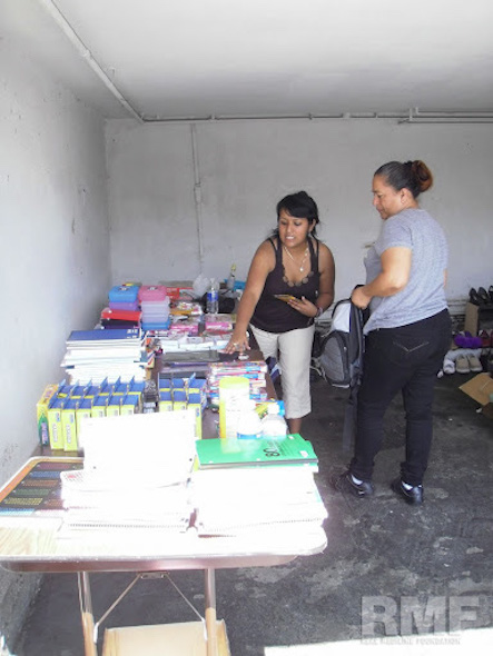 organizing donations in the fair