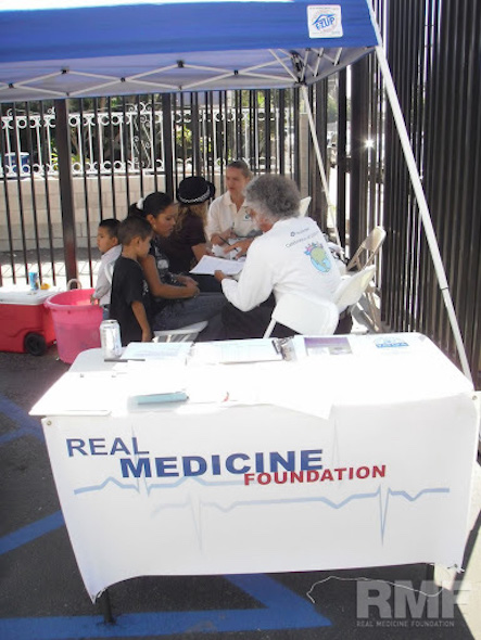 registration table at the health fair