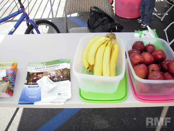 fruit at the registration table