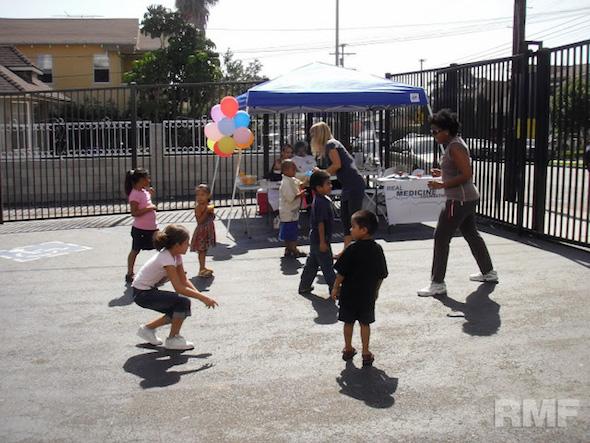 kids running around together