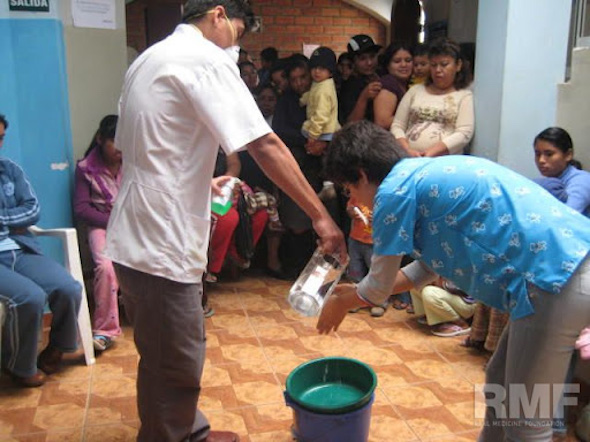 demonstration on hand washing
