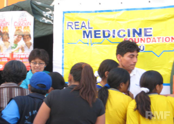 tent at a health information fair