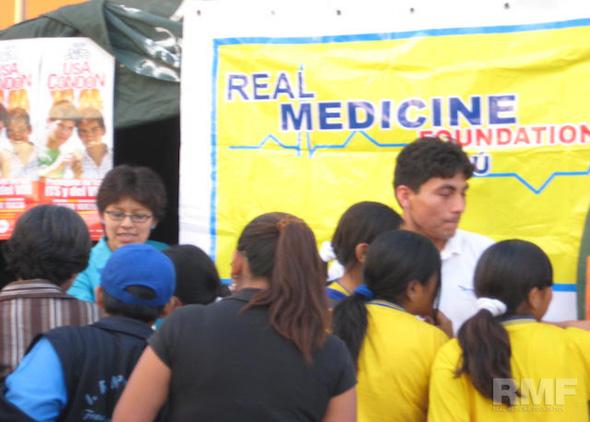 tent at a health information fair