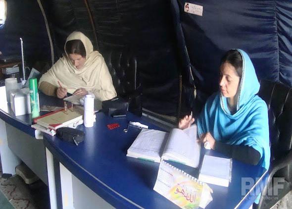 women managing medical center