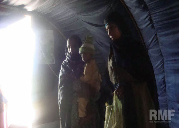 family waiting to receive medical care