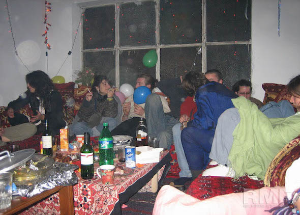team celebrating with a party