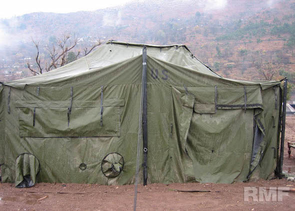 green tent in pakistan