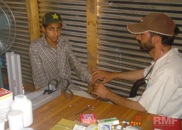 boy receiving medical treatment