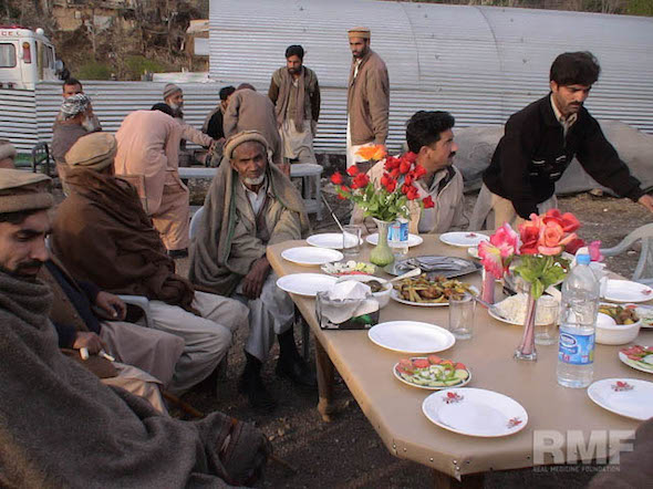 people enjoying a meal together