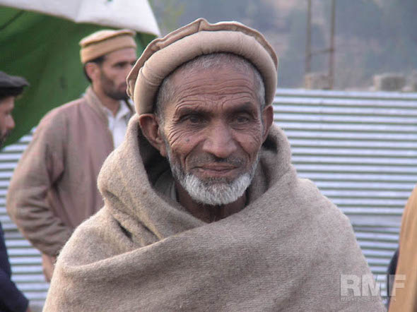 elderly man in pakistan