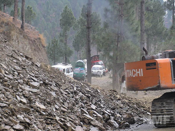 a landslide in pakistan