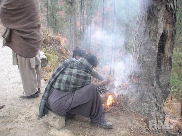 starting a fire in pakistan