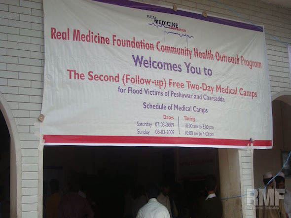 sign promoting medical camp