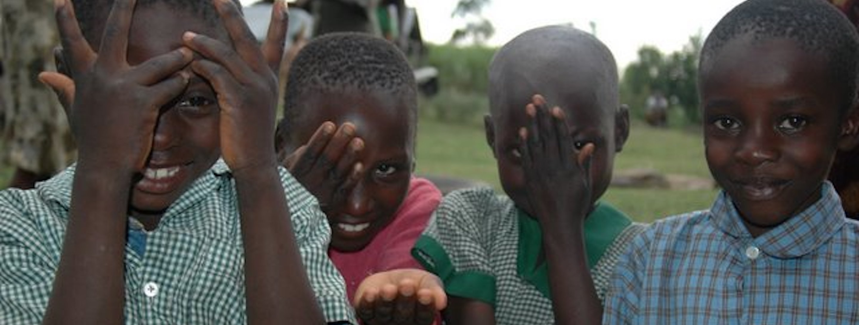 young kenyan children playing
