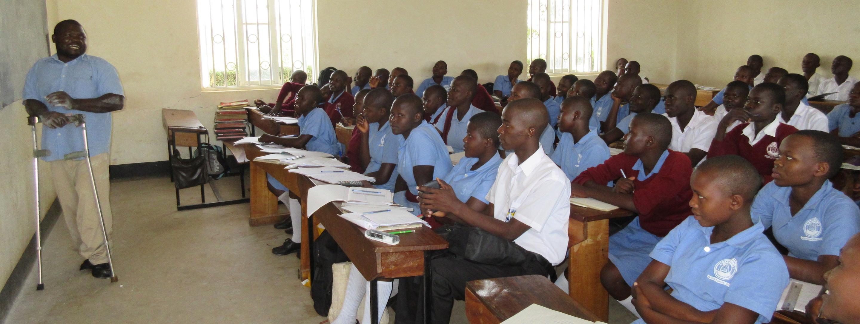 students in uganda learning at mama kevina