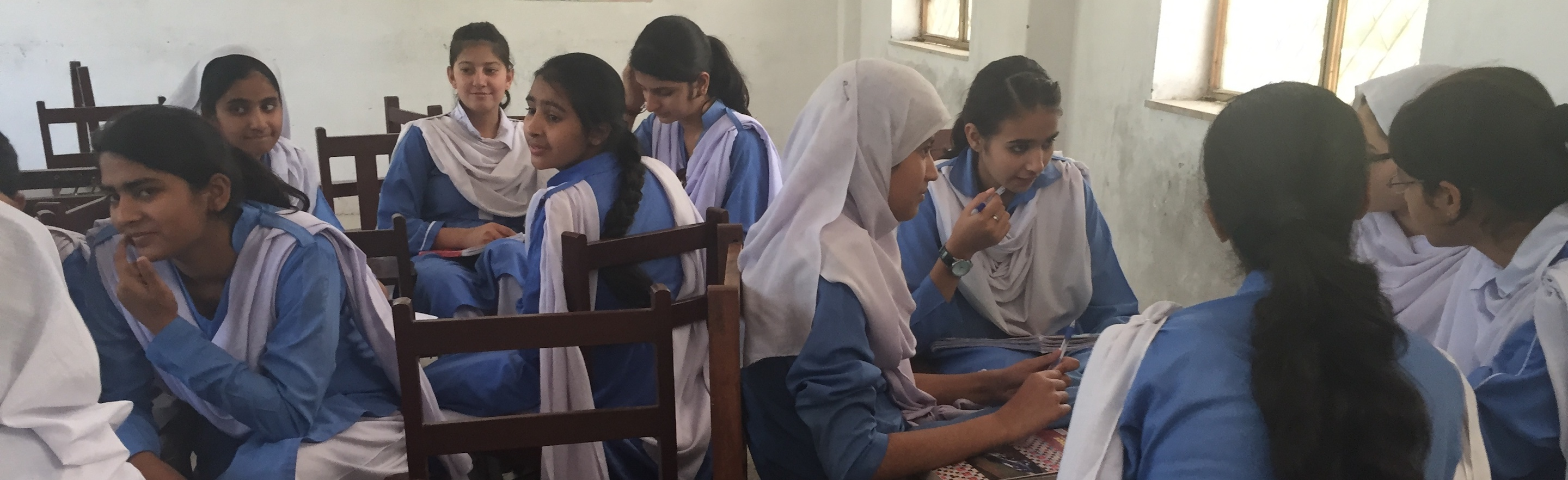pakistani girls learning in a class
