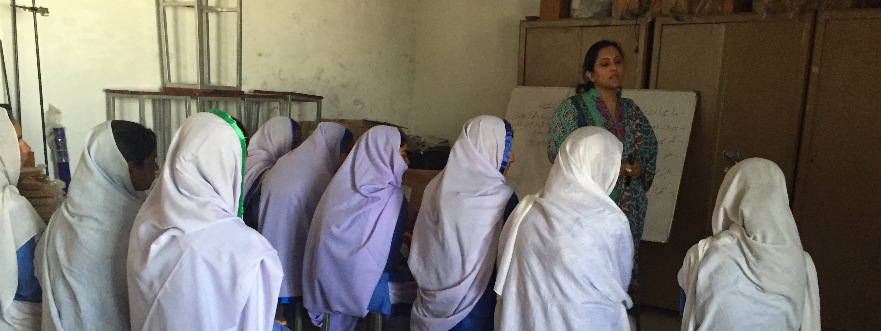 pakistani girls learning about menstruation