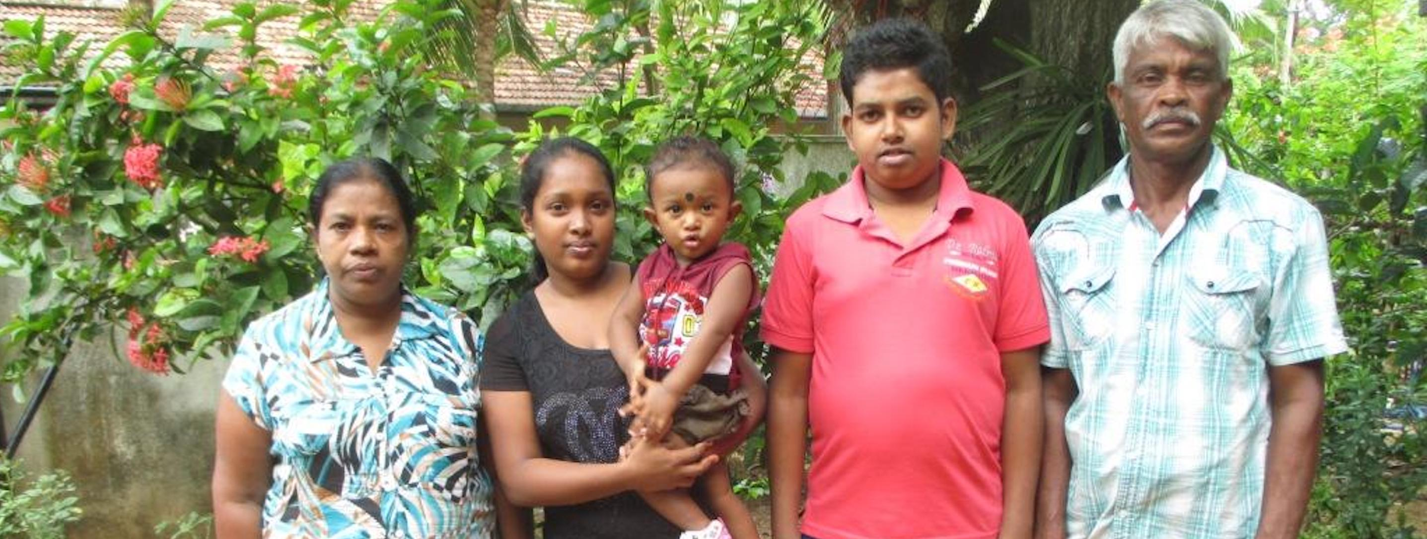 young sri lanka boy with mother in hospital