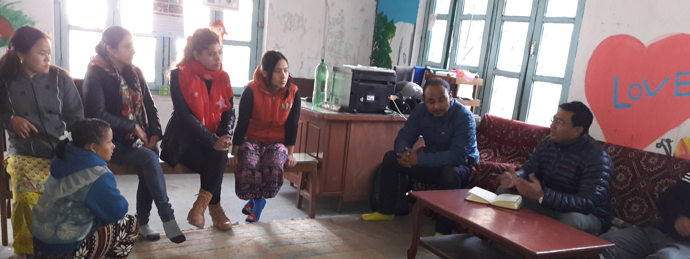 meeting about orphanage administration in nepal