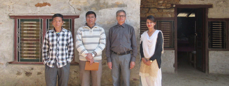 medical staff of a nepali village