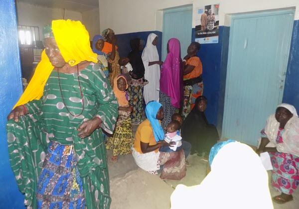 Women and children awaiting maternal and child health services