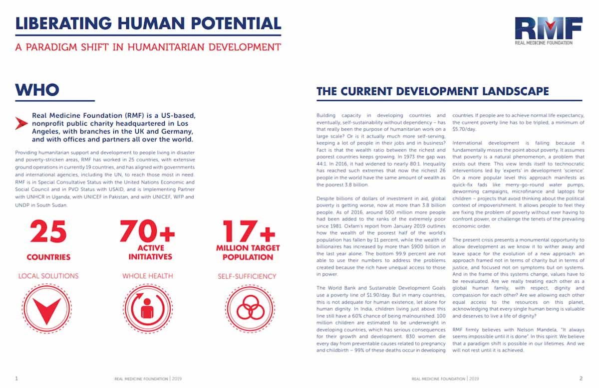 RMF Liberating Human Potential White Paper, April 2019
