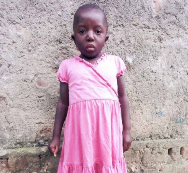 4-and-a-half-year-old Patricia in her village